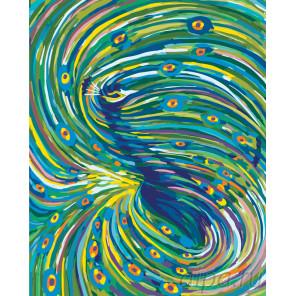 Чарующий танец павлина Раскраска по номерам на холсте Живопись по номерам RA194