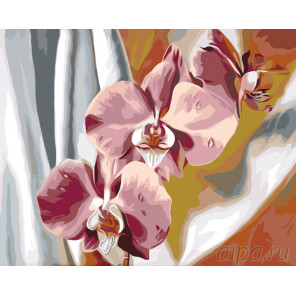 Шелковые орхидеи Раскраска по номерам на холсте Живопись по номерам F47