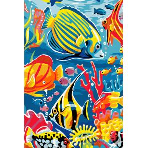 Веселые рыбки Раскраска по номерам на холсте Живопись по номерам KRYM-AN21