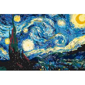 Схема Звездная ночь Раскраска по номерам на холсте Живопись по номерам KRYM-Z010