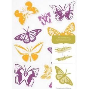 Бабочки на лугу Набор прозрачных штампов для скрапбукинга, кардмейкинга Docrafts