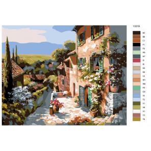 Раскладка Солнечная улочка Раскраска по номерам на холсте Живопись по номерам KTMK-13319