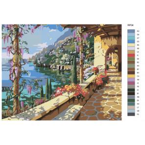 Раскладка Тенистая набережная Раскраска по номерам на холсте Живопись по номерам RP04