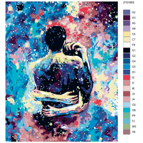 Раскладка Вселенная любви Раскраска по номерам на холсте Живопись по номерам Z101663