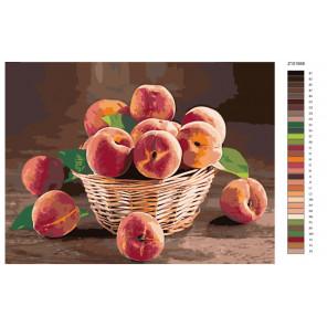 Схема Аромат спелых персиков Раскраска по номерам на холсте Живопись по номерам Z-Z101958