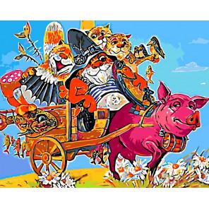 Веселое путешествие Раскраска картина по номерам на холсте Z-Z25362