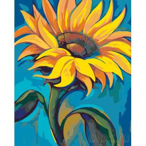 Подсолнух на солнце Раскраска картина по номерам на холсте RA211