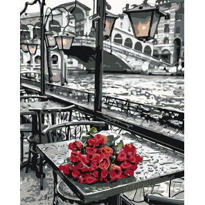 Столик в Венеции Раскраска картина по номерам на холсте KTMK-04003