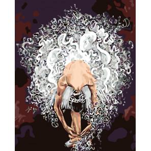 раскладка Воздушная балерина Раскраска картина по номерам на холсте