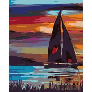 Вечер на яхте Раскраска картина по номерам на холсте KTMK-92452