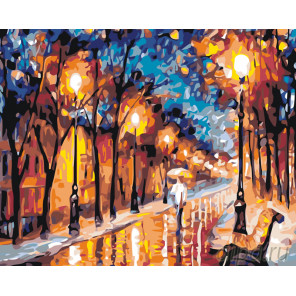 Поздняя прогулка в впарке Раскраска картина по номерам на холсте KTMK-445742