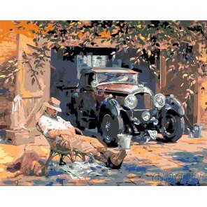 Любимое авто Раскраска по номерам на холсте Живопись по номерам KTMK-46378