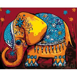 Слоненок удачи Раскраска по номерам на холсте Живопись по номерам KTMK-33086