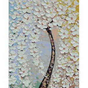 Раскладка Цветущее дерево Раскраска по номерам на холсте Живопись по номерам KTMK-775265