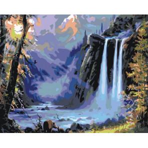 Пейзаж с водопадом Раскраска по номерам на холсте Живопись по номерам KTMK-97697