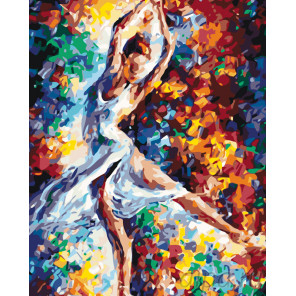 Раскладка Стремительный танец Раскраска по номерам на холсте Живопись по номерам KTMK-948845
