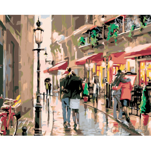 Дождливое утро Раскраска по номерам на холсте Живопись по номерам KTMK-82135
