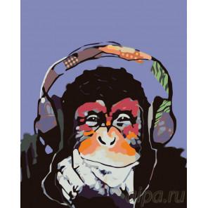 Музыкальная обезьяна Раскраска по номерам на холсте Живопись по номерам KTMK-172703