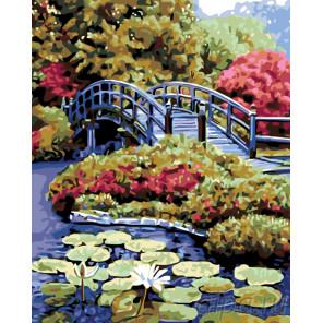 Пруд в саду Раскраска по номерам на холсте Живопись по номерам KTMK-83178