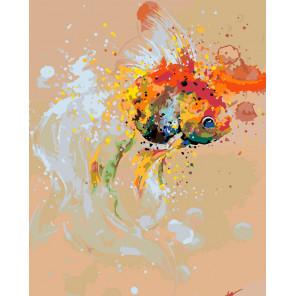 Волшебная рыбка Раскраска картина по номерам на холсте Z1011002652