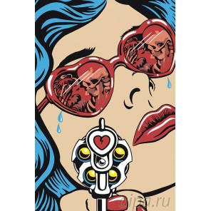 Разбитое сердце Раскраска картина по номерам на холсте PA151