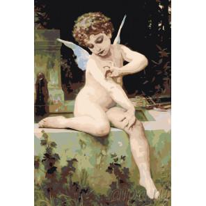 раскладка Античный ангелок Раскраска картина по номерам на холсте