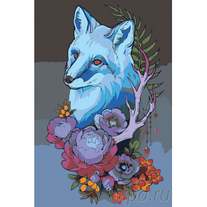 Призрак лисы Раскраска картина по номерам на холсте RA279