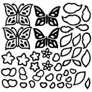 Бабочки Крупные витражные контуры Gallery Glass Plaid