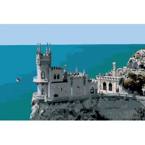Крымский замок Раскраска по номерам на холсте Живопись по номерам KTMK-CH50