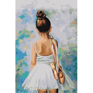 раскладка Первые шаги в балете Раскраска по номерам на холсте Живопись по номерам