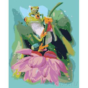 Лягушки Раскраска по номерам на холсте Живопись по номерам Z-AB3