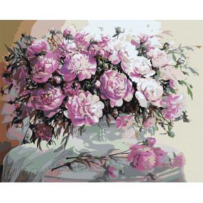 Раскладка Пионовое цветение Раскраска по номерам на холсте Живопись по номерам Z-AB25