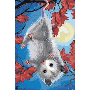 Веселый мышонок Раскраска картина по номерам на холсте A596