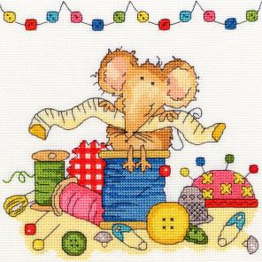 Мышка шьёт Набор для вышивания Bothy Threads XSW9