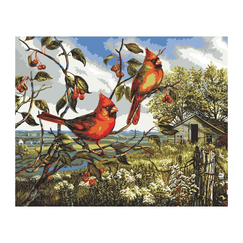 Красное великолепие (художник Донна Рейс) Раскраска ...