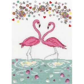 Любовь фламинго Набор для вышивания Bothy Threads XKA9