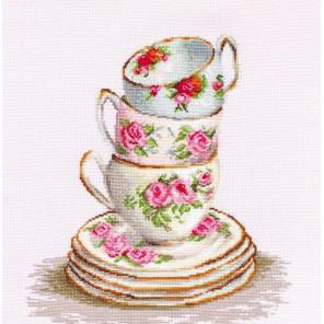 Три чайные чашки Набор для вышивания Luca-S B2323