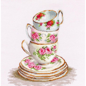 Три чайные чашки Набор для вышивания Luca-S BA2323
