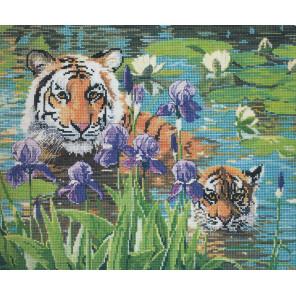 Тигрица с детёнышем Набор для вышивания CANDAMAR DESIGNS 51205