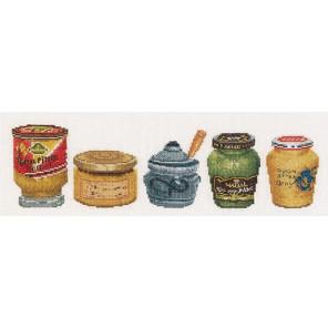 Банки с горчицей Набор для вышивания Thea Gouverneur 3046A