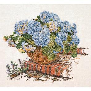Голубые Гортензии Набор для вышивания Thea Gouverneur 2046A