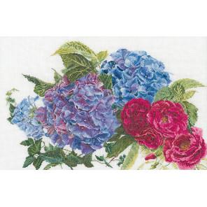 Гортензия и роза Набор для вышивания Thea Gouverneur 442A