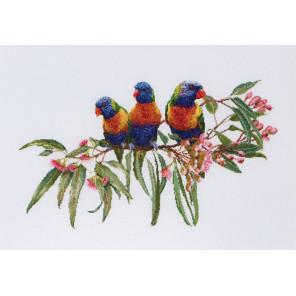 Стайка попугаев Набор для вышивания Thea Gouverneur 553A