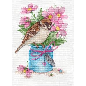 В рамке Весенний привет Набор для вышивания Овен 1200