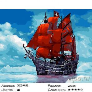 Количество цветов и сложность Под алыми парусами Раскраска картина по номерам на холсте GX29453