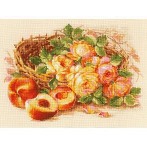 Внешний вид упаковки Сочный персик Набор для вышивания Риолис 1827