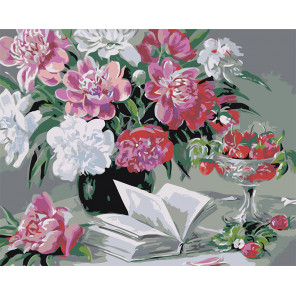 Стихи, ягоды, цветы Раскраска картина по номерам на холсте Z-AB129-80x100