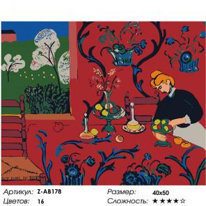 Макет Яблочное застолье Раскраска картина по номерам на холсте Z-AB178