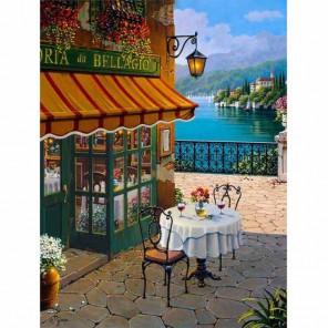 Кафе Белладжо (репродукция Роберта Пежмана) Раскраска по номерам акриловыми красками на холсте Живопись по номерам