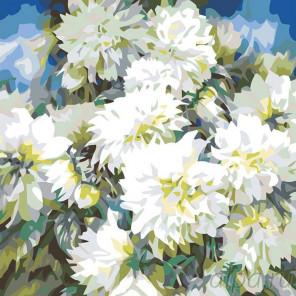 Схема Хризантемы Раскраска картина по номерам на холсте F17